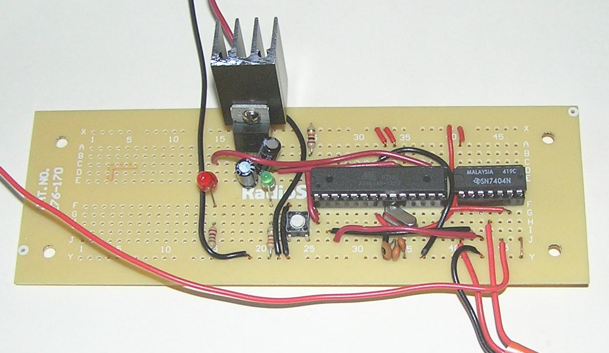 Digital Clock By Don Cross Led Using Pic Microcontroller Cpu Board After Initial Soldering