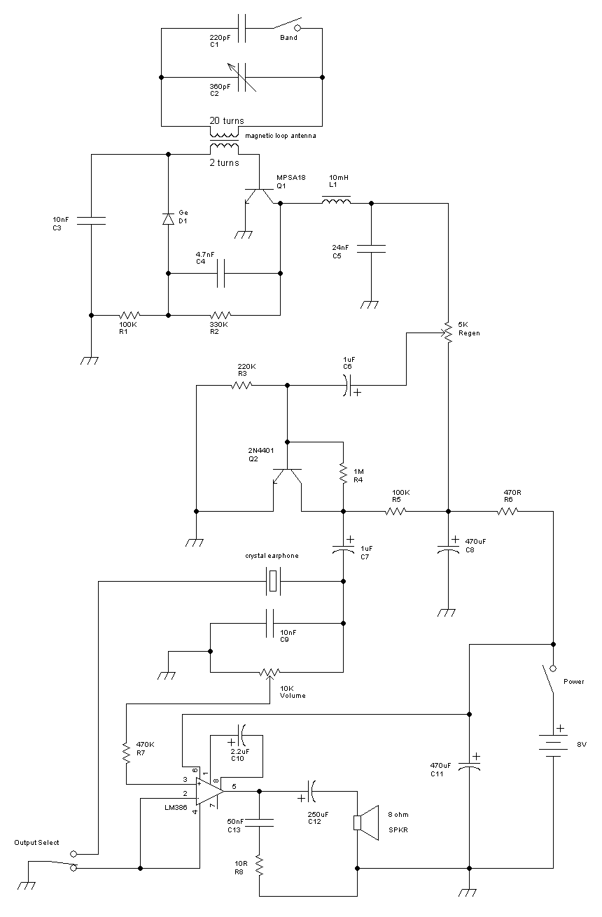 Radio Circuits Built By Don Cross Am Receiver Circuit Design Electronic Project Schematic